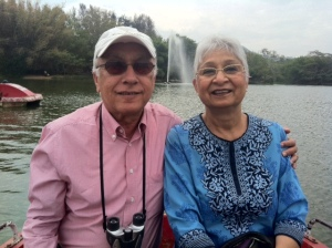 Mom Dad In Mysore Nature Park Feb 13